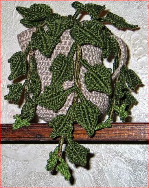 Planta de jardín al crochet
