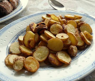 Pink Fir Apple Potatoes Fried in Duck Fat