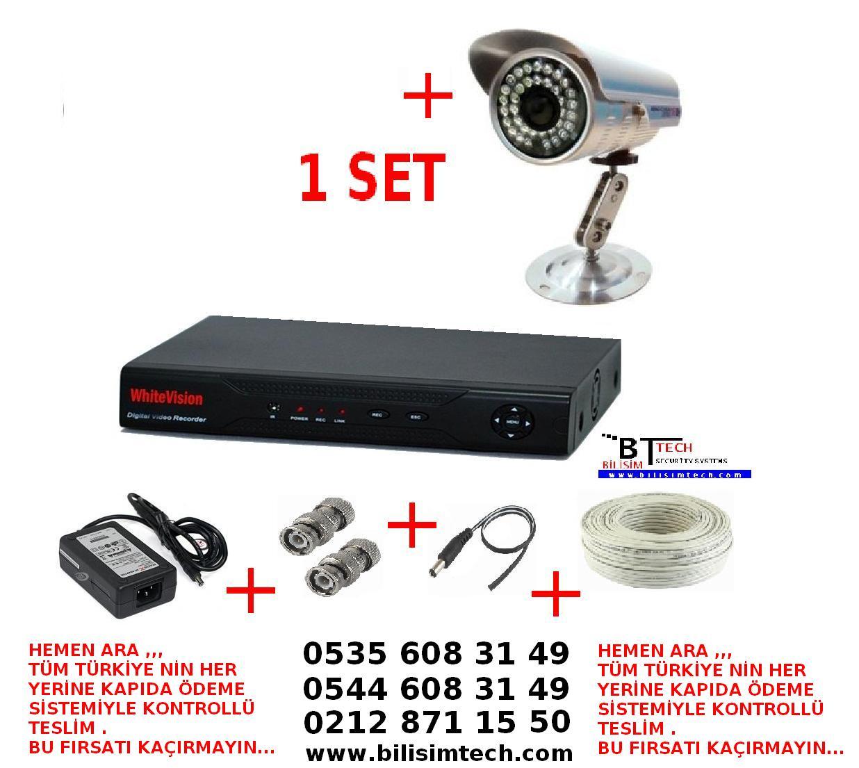 CCTV kameraların cihazları ve çeşitleri