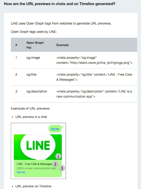 Line URL preview