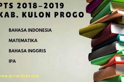 Hasil PTS 2 Tingkat SMP/MTs Kabupaten Bantul 2018/2019 Kelas 8