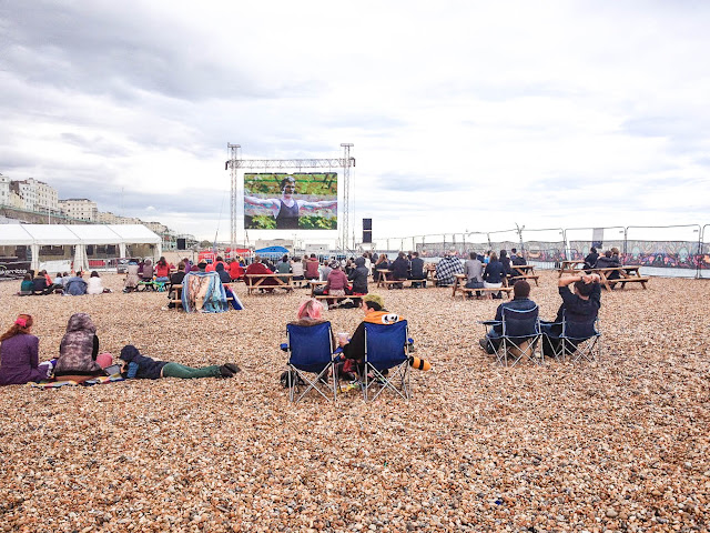 brighton big screen beach