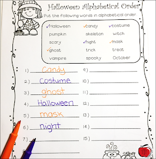 https://www.teacherspayteachers.com/Product/Halloween-Differentiated-Alphabetical-Order-3445272?utm_source=www.terristeachingtreasures.blogspot.ca&utm_campaign=Halloween%20Alpha%20TTT