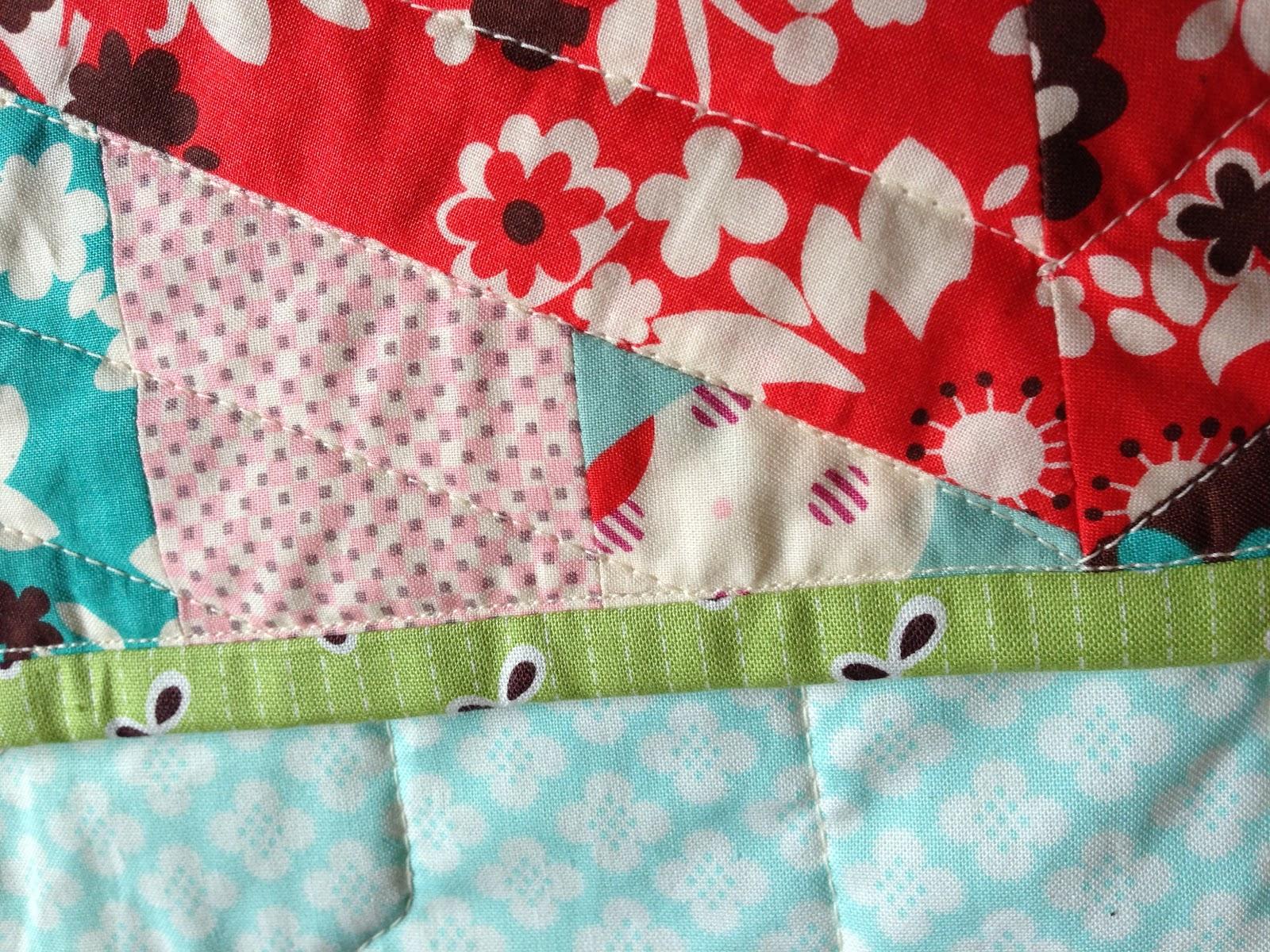 Poppy Makes Modern Hexagon Baby Quilt