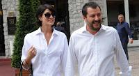 """Salvini a Sanremo con Elisa Isoardi: """"Ci piace il Festival, io lo seguo da sempre"""""""