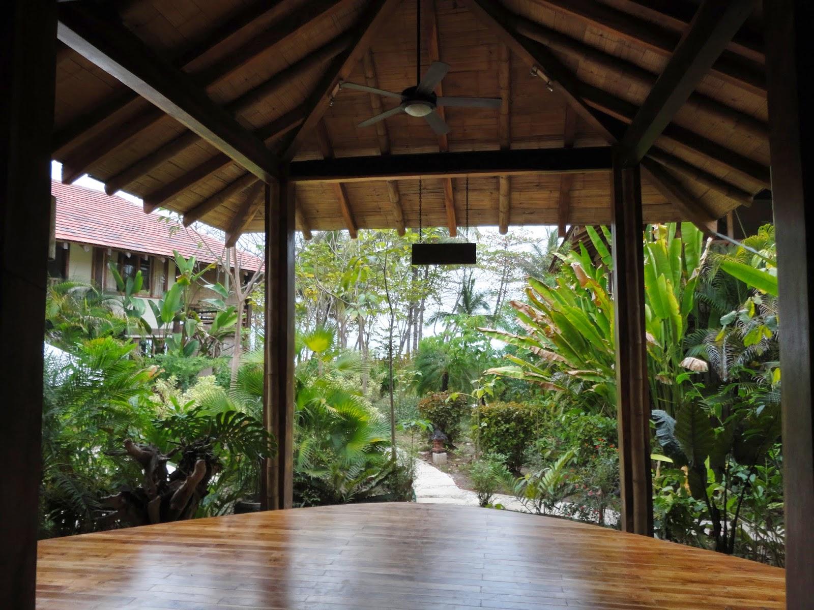 Pranamar's open air yoga room