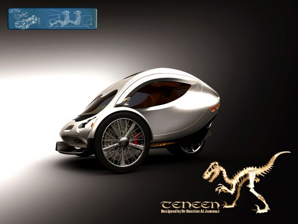 TENNEN Two Seat Electric Car By Hussien Al Jammazi