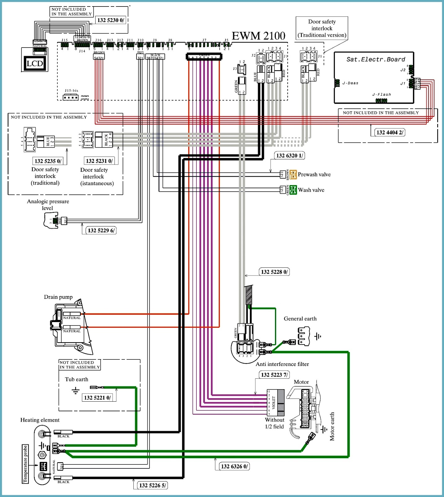 EWM2100 – EWM2500ENV06 – ELECTROLUX WASHING MACHINE – Toploader – Schematic diagram – Error