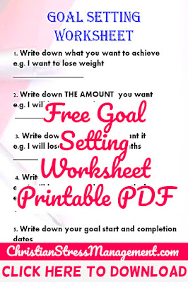 Free Goal Setting Worksheet Printable PDF