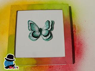 Quadretto con farfalla 3d