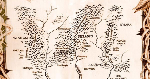 Sword Of Truth Map Nerdovore: Map of Terry Goodkind's Sword of Truth World Sword Of Truth Map