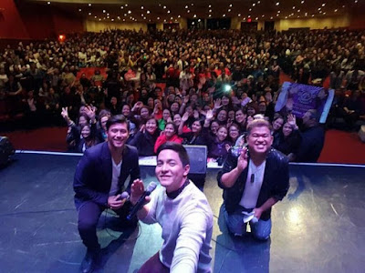 Alden together with Rocco and Kim Idol brought joy to our OFW in Canada