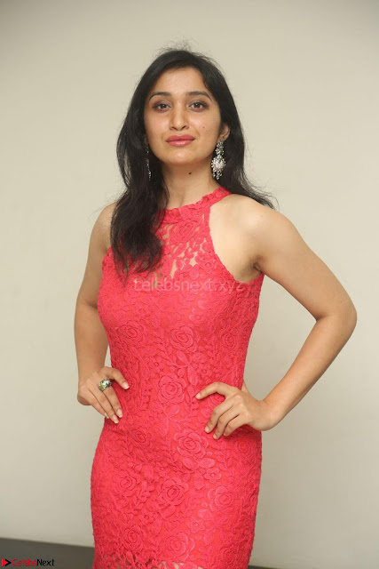 Sakshi Kakkar in Red Legsplit Sleeveless Gown at Dare movie Press meet ~  Exclusive 006.JPG
