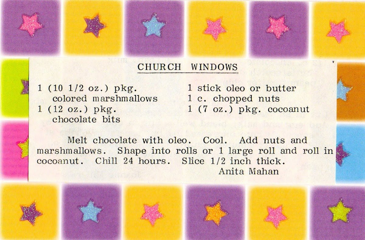 Church Windows (quick recipe)
