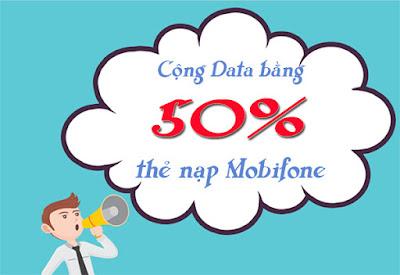 Cơ hội nhận data bằng 50% thẻ nạp Mobifone ngày 21/3