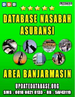 Jual Database Nasabah Asuransi Banjarmasin
