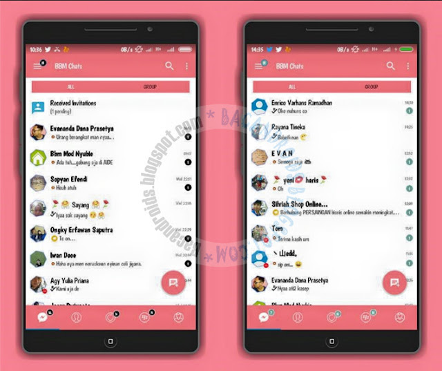 AR BBM Mod v8 Base 3.3.2.31 Apk Latest update