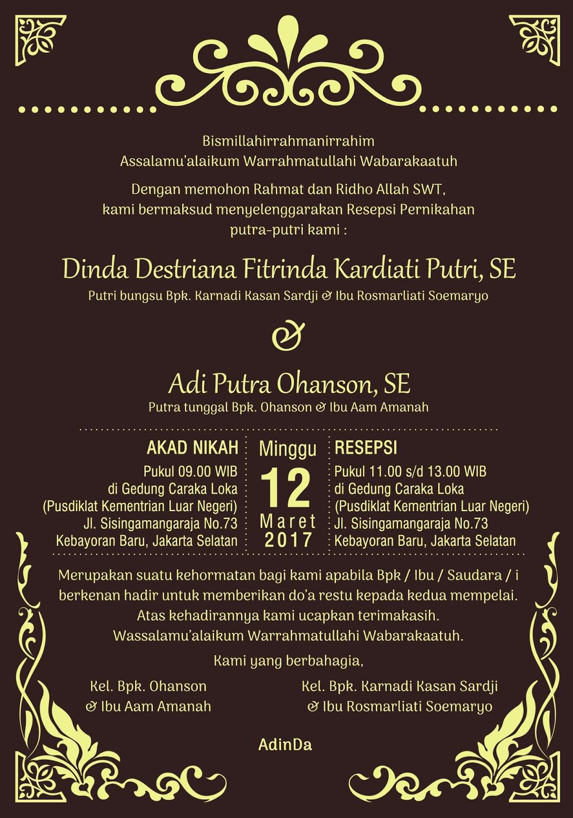 Undangan Pernikahan Model Custom, Murah, Terbaru