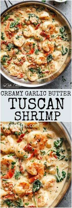 Creamy Garlic Butter Tuscan Shrimp Recipe