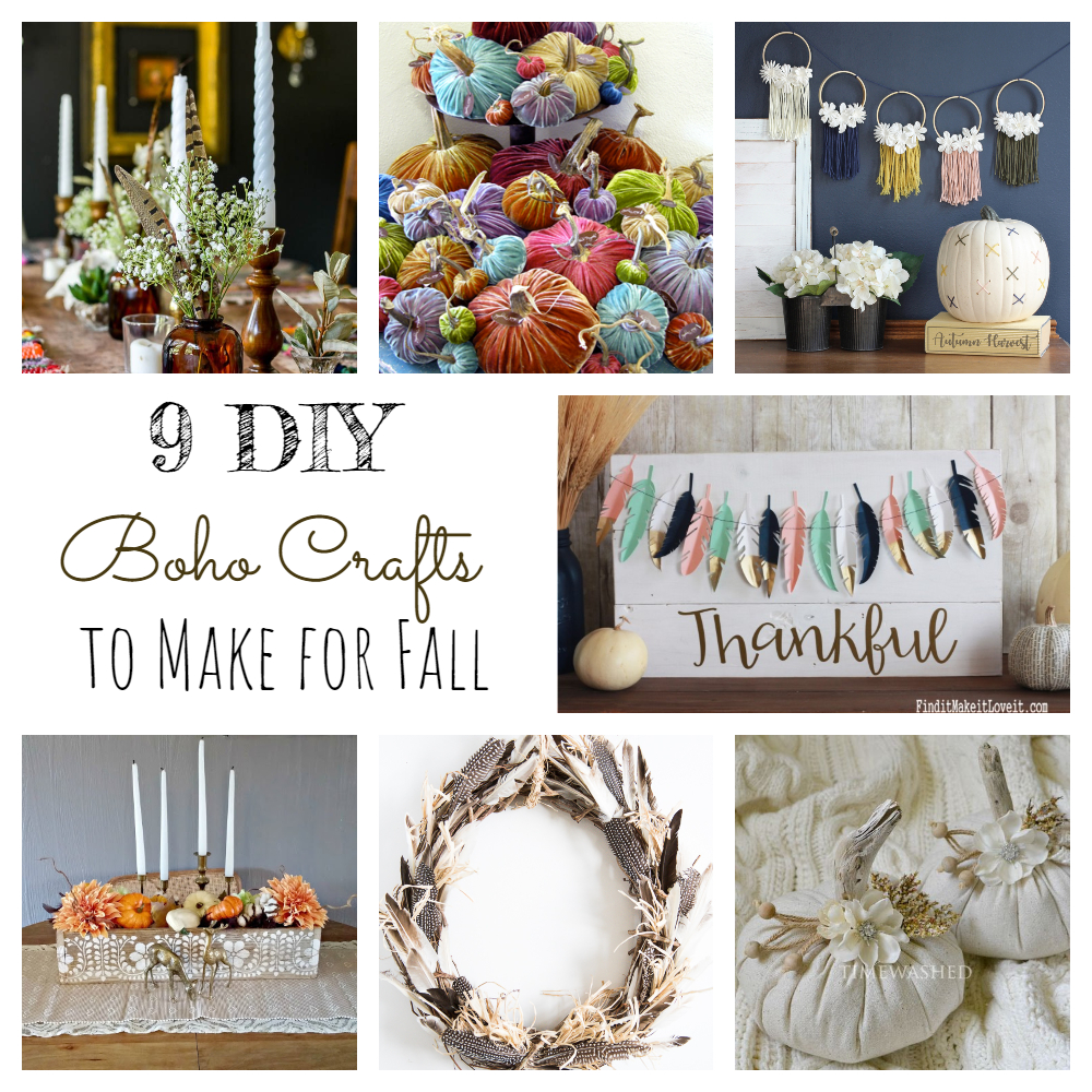 9 DIY Boho Crafts to Make for Fall!