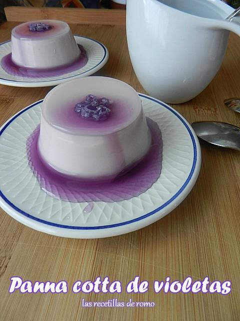 """Panna cotta de violetas"""