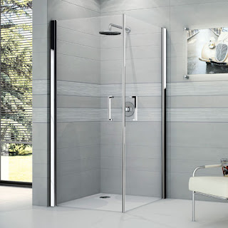 A Shower With the Swinging Doors