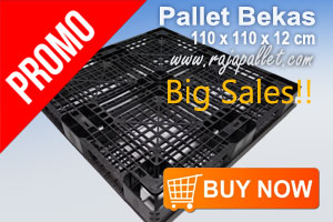 Big Sale Pallet Plastik Bekas Murah 110 x 110 x 12 cm