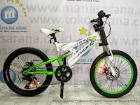 Sepeda Gunung Remaja Pacific Viper 20 Inci White Green