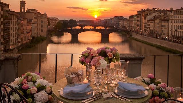 Ponte Vecchio e Rio Arno em Florença