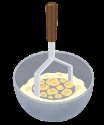 料理の「マッシュ」のイラスト