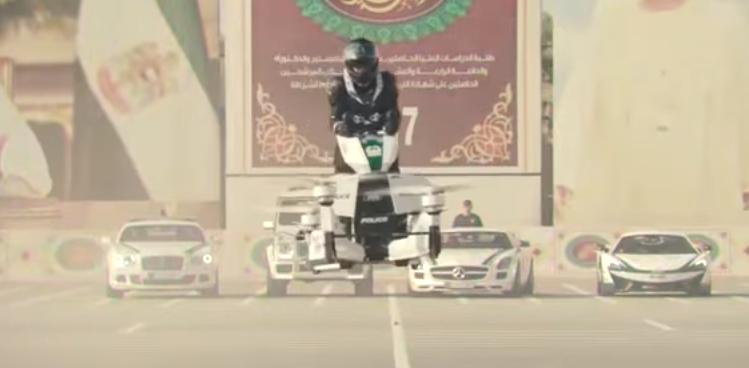 Wow Selain Pakai Mobil Sport Mewah, Polisi Dubai Kini Pakai Hoverbike Bisa Terbang