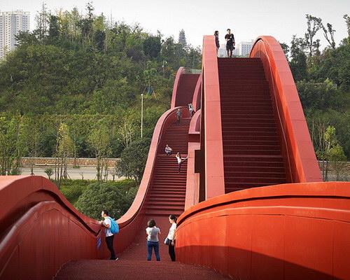 Tinuku.com NEXT Architects translates Möbius strip for Lucky Knot bridge in Changsha Meixi Lake District
