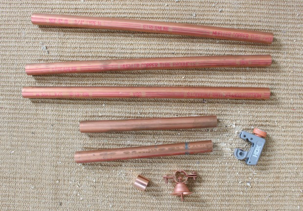 diy long copper pipe hardware drawer pulls