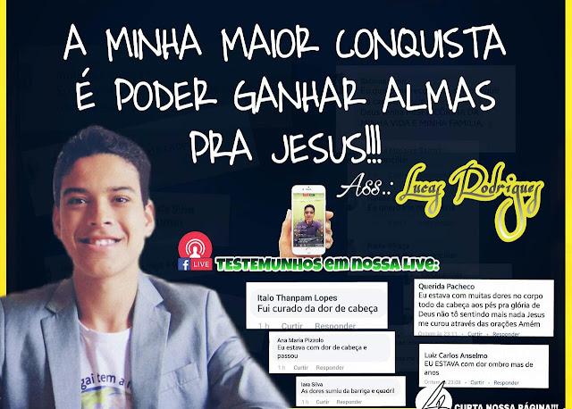 Com apenas 17 anos, jovem brasileiro, conquista milhares de seguidores através do evangelismo no Facebook em busca da salvação de suas almas!