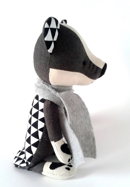 Badger soft toy