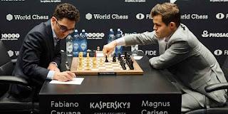 2018 World Chess Championship: Game 10: Fabiano Caruana vs Magnus Carlsen