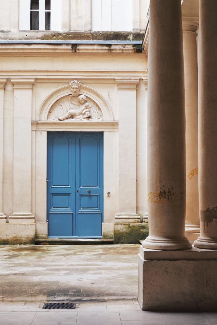 Cour intérieure d'hôtel particulier à Montpellier