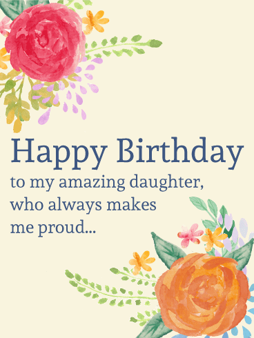 Daughter Birthday Wishes | Quotes | Messages and Images from Mom & Dad