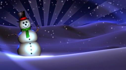 retrospectiva animada vídeo intro boneco de neve