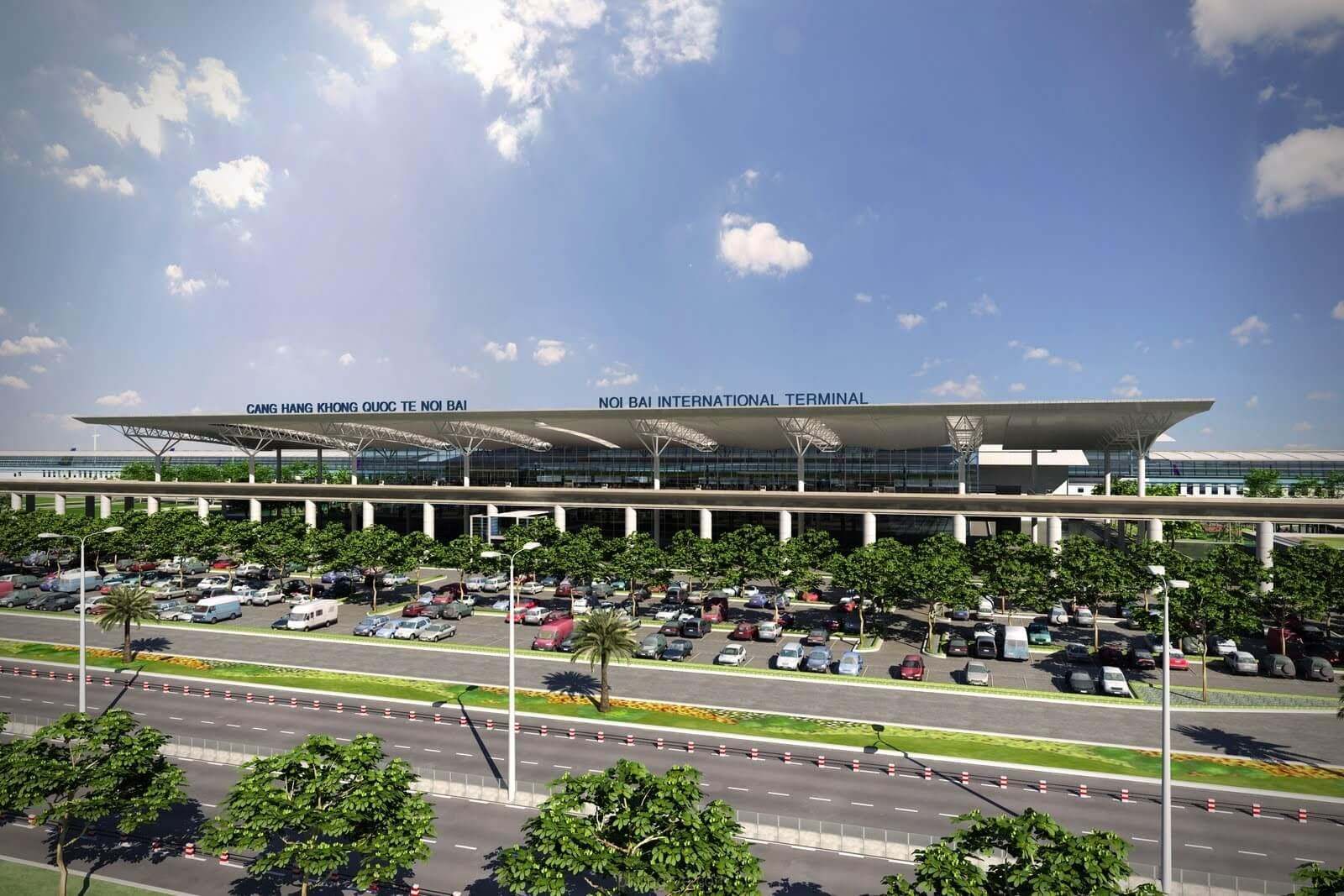 Sân bay quốc tế Nội Bài.