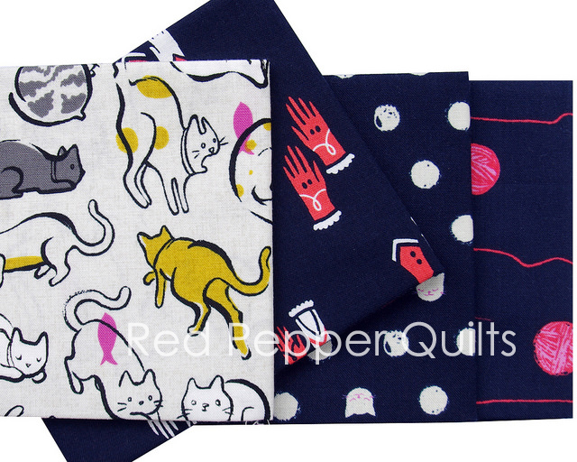 Cat Lady by Sarah Watts for Cotton + Steel | Red Pepper Quilts 2016