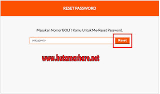 Cara Reset Password My Bolt
