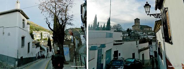 Granada, Andaluzia: bairro mouro do Albaicín