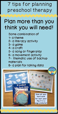 7 tips for planning preschool therapy- Looks Like Language