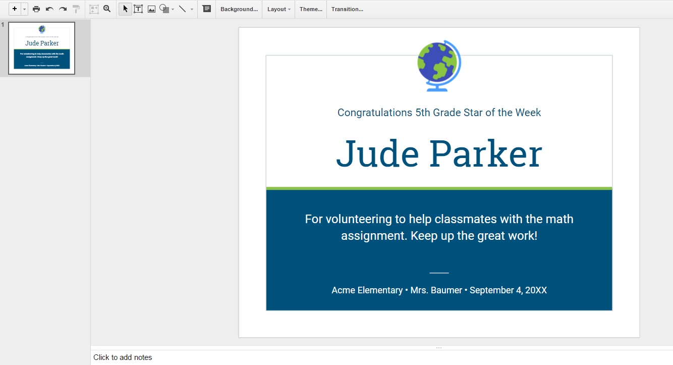 In The Google Slides Template Gallery There Is A For Creating Student Certificate
