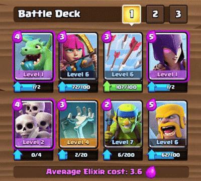 [Game] 2 Deck Battle (Kombinasi kartu) Clash Royale Arena 2-4 Terbaik