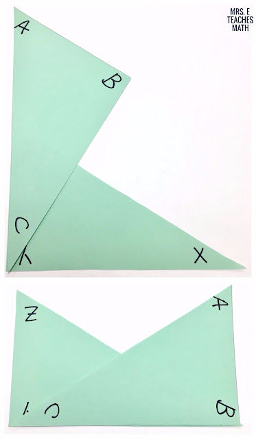 Congruent triangles in geometry is a fun unit to teach! These tips will help you find an activity or worksheet to for your high school students.  The interactive notebook foldable is the perfect way for students to take notes.  The proofs project will help your students become more confident.