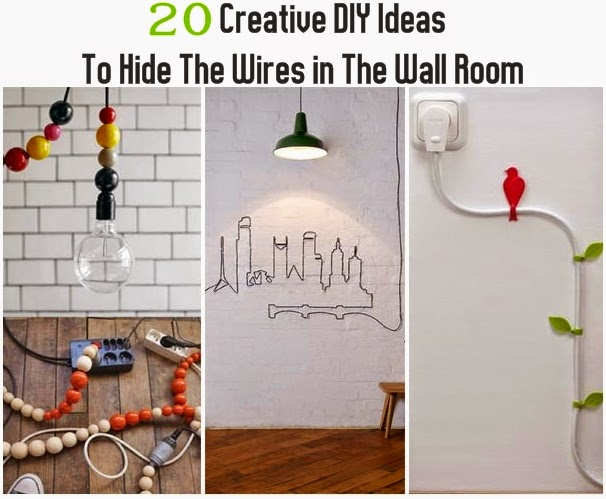 20 Creative DIY Ideas To Hide The Wires in The Wall Room - DIY Craft  Projects