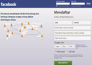 Cara mendaftar facebook baru dengan cepat dan gratis