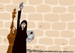 Resultado de imagem para primavera arabe charges